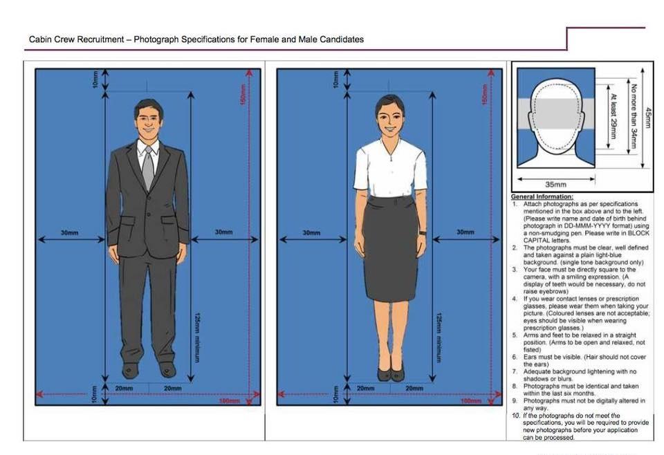 cabin crew application full length photo
