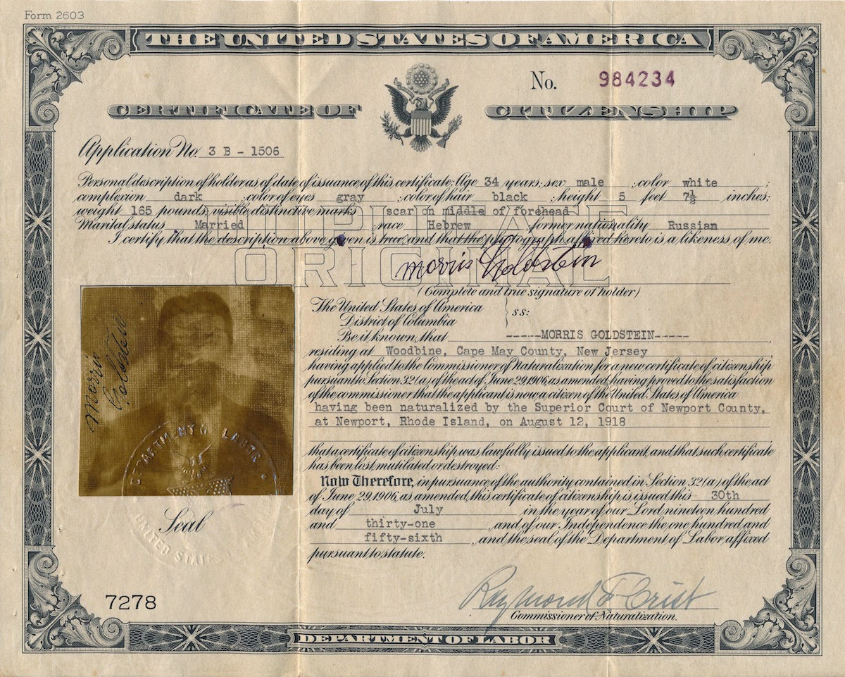application for citizenship certificate replacement