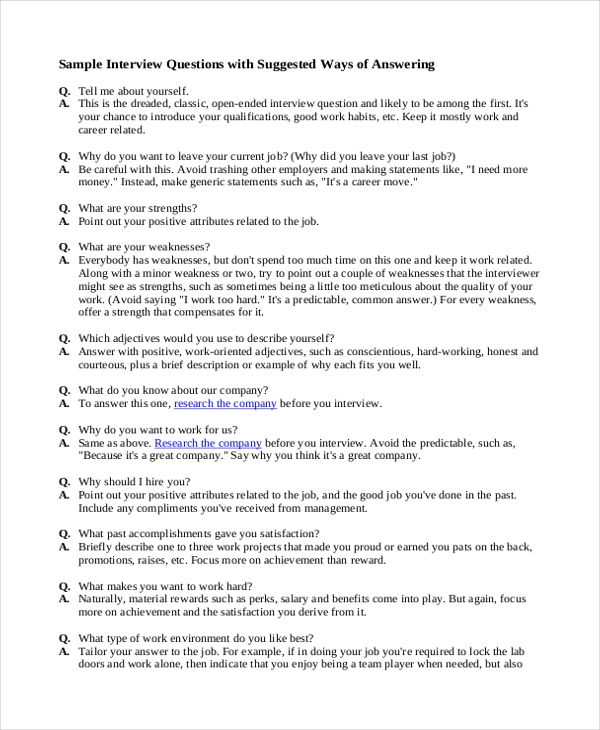 how to answer job application questionnaires
