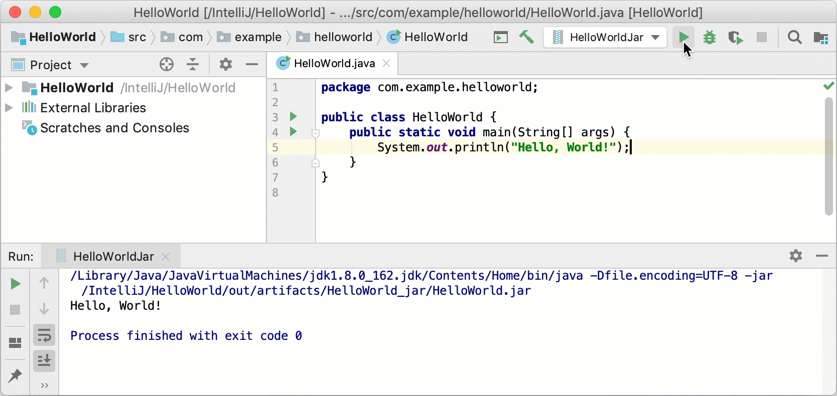 java application example source code