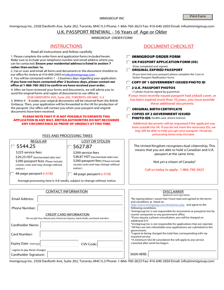 new passport application form uk