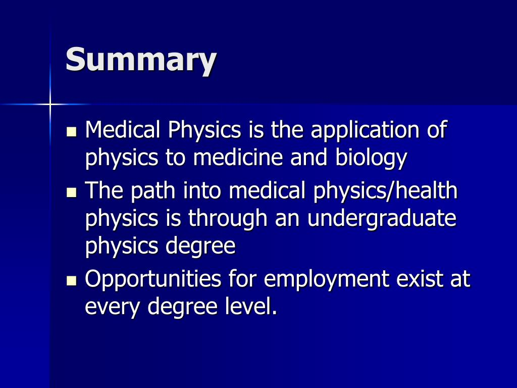application of physics in medical technology