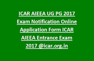 icar 2017 online application form