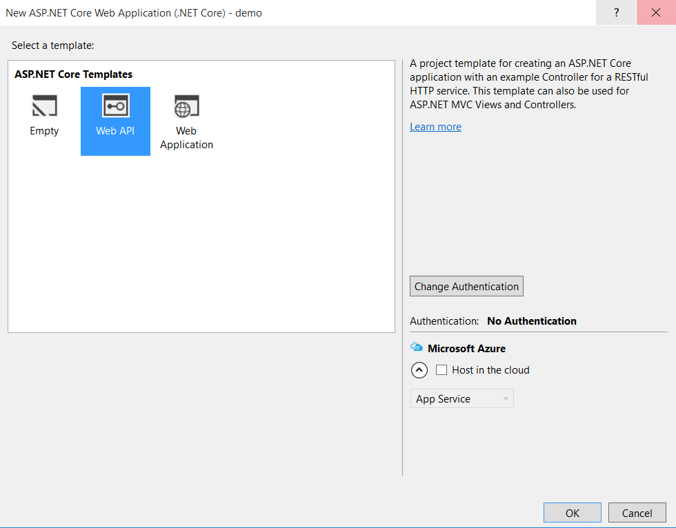 asp net web application template