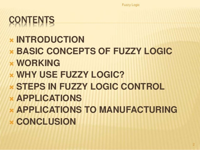 fuzzy logic applications in computer science