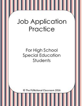 practice job application for high school students