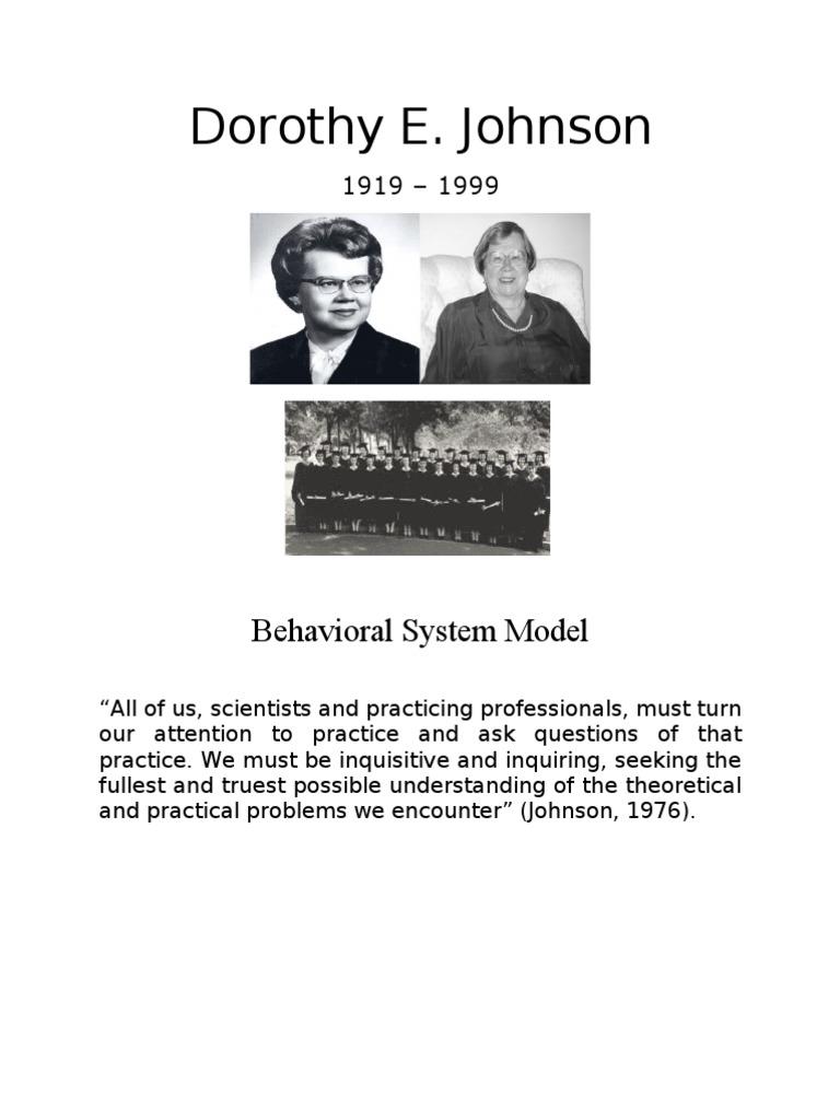 johnson behavioral system model application