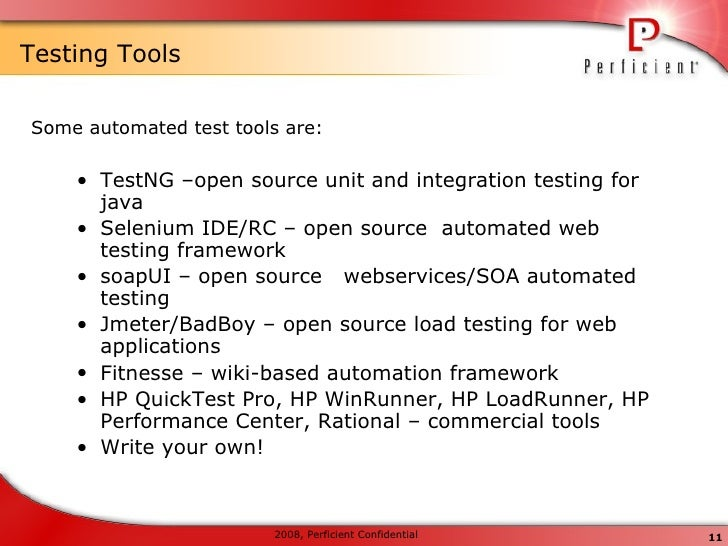 testing tools for java web applications