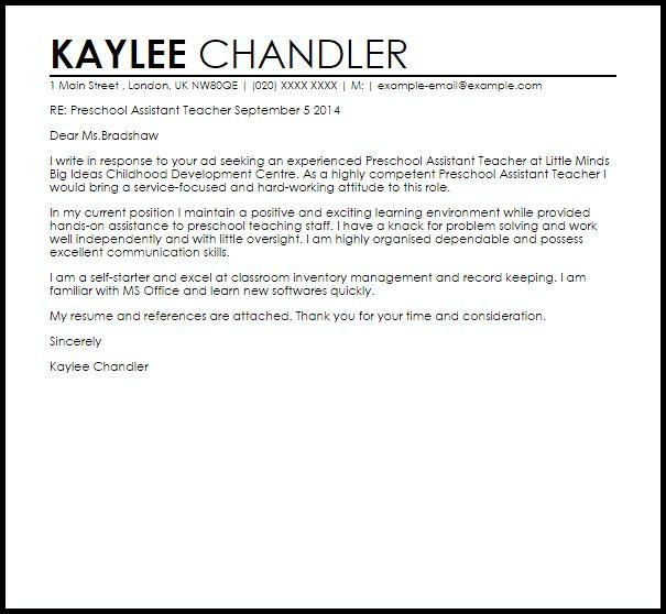 application letter for assistant lecturer position
