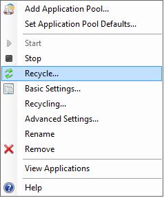 iis application pool recycle event log