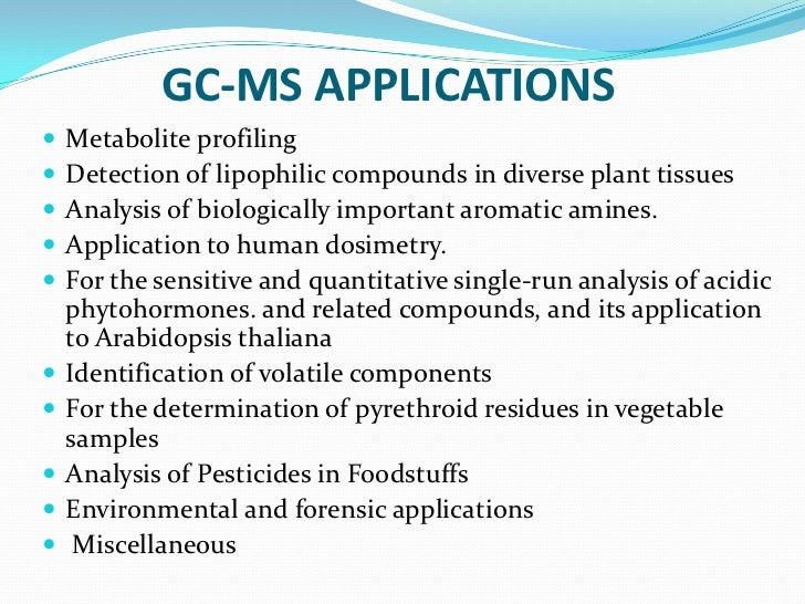 gc ms principle and applications