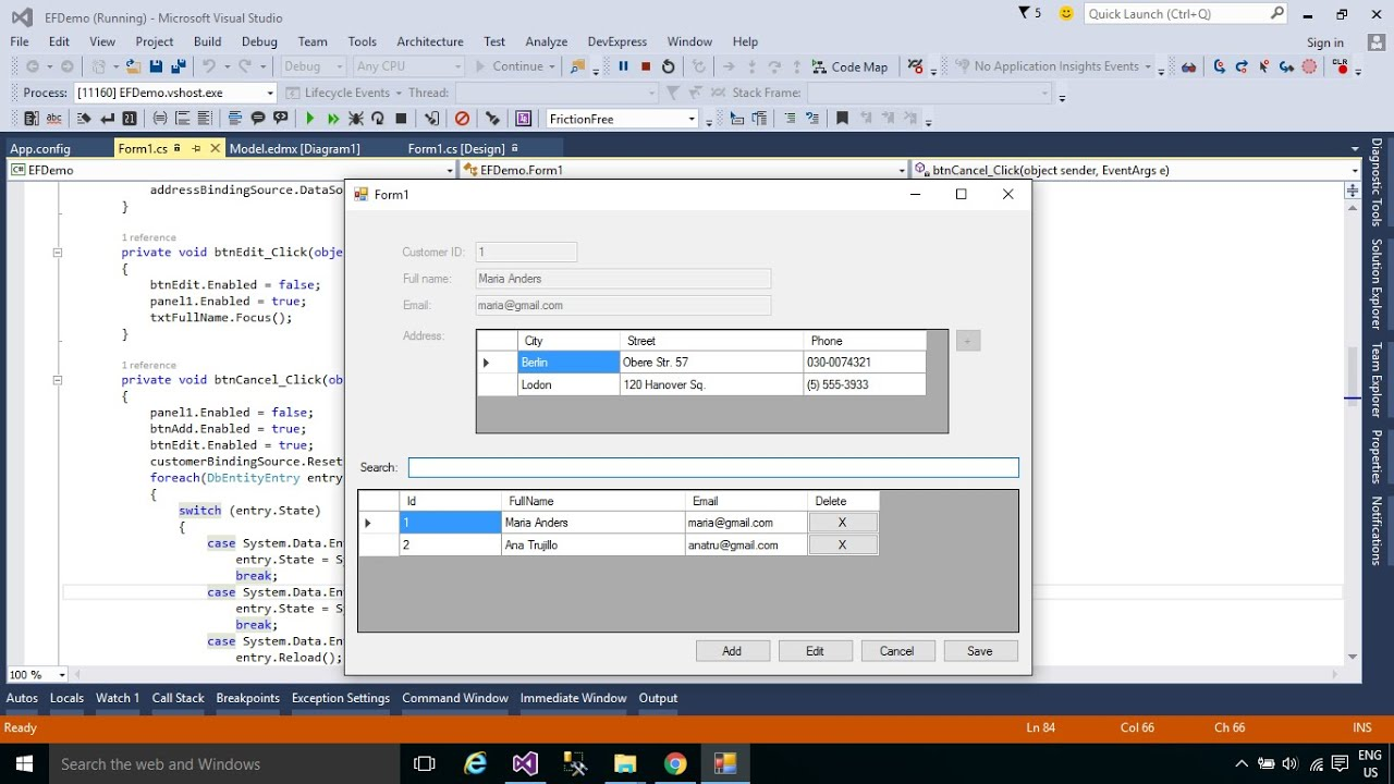 how to create table in c# windows application
