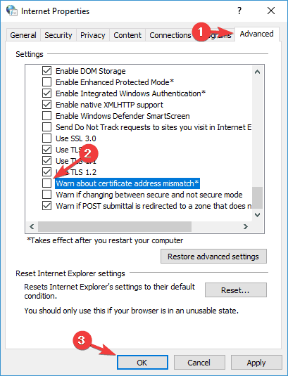 how do i fix application blocked by security settings