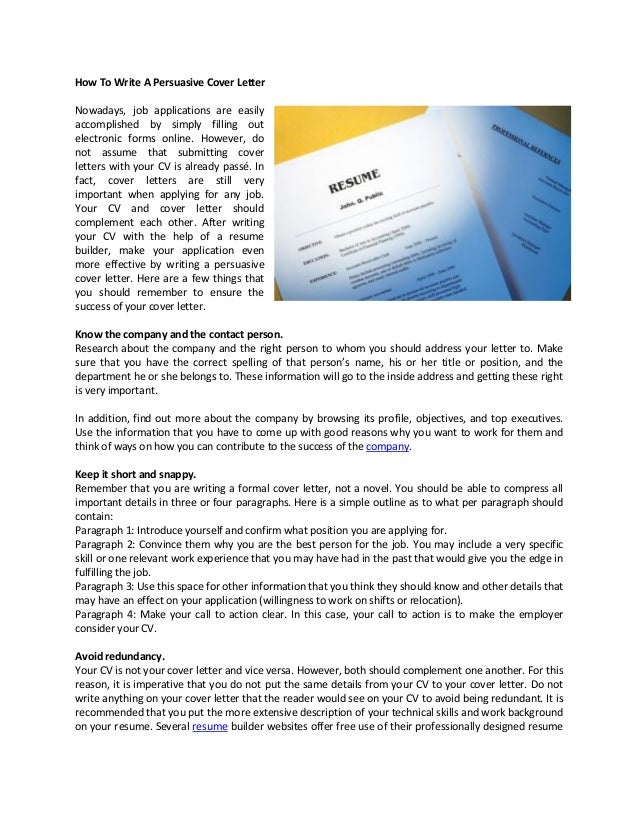 write an application for job