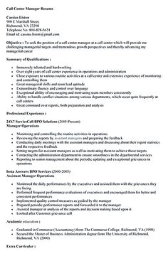 call center application letter no experience