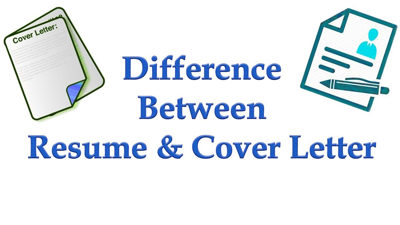 difference between cover letter and application