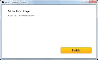 adobe flash player application initialization error