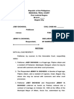 application for annulment of marriage