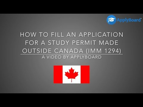 application for work permit made outside of canada