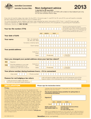 ato tax file number application form download
