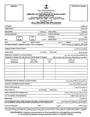 saudi visa application form pdf