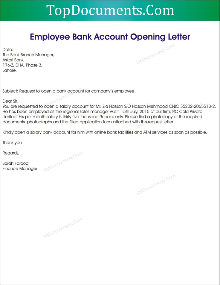 writing an application letter for employment