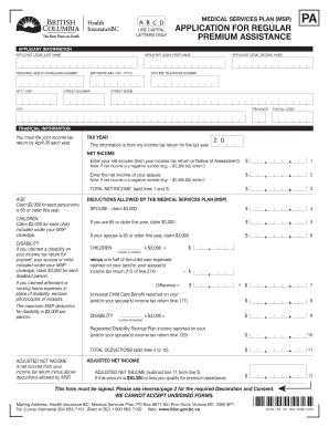 bc msp premium assistance application