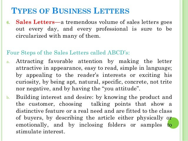 different types of application letter