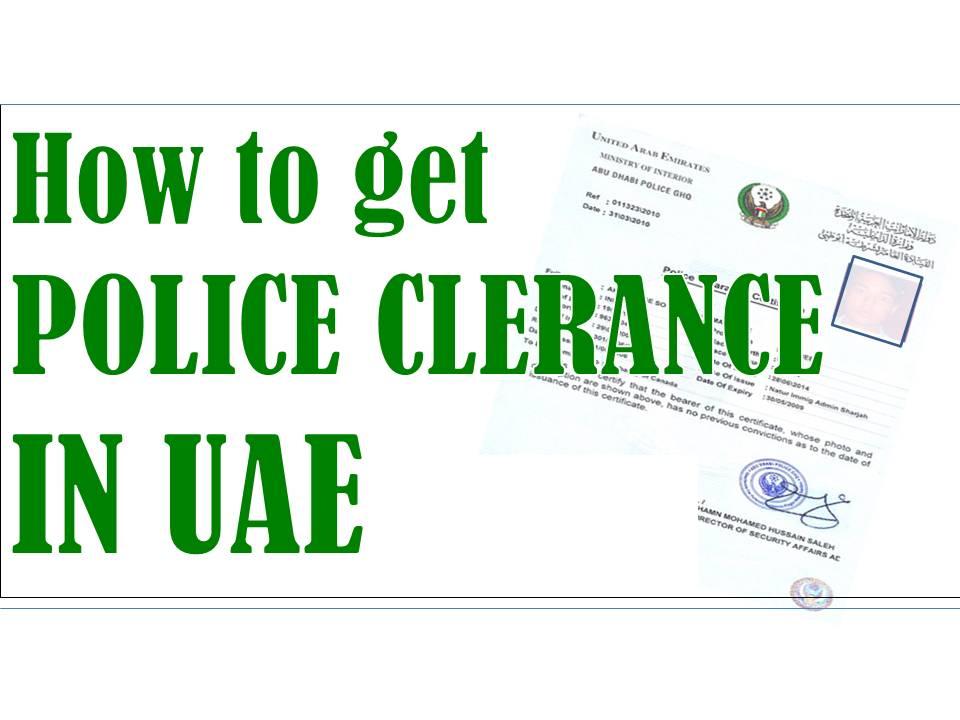dubai police clearance online application