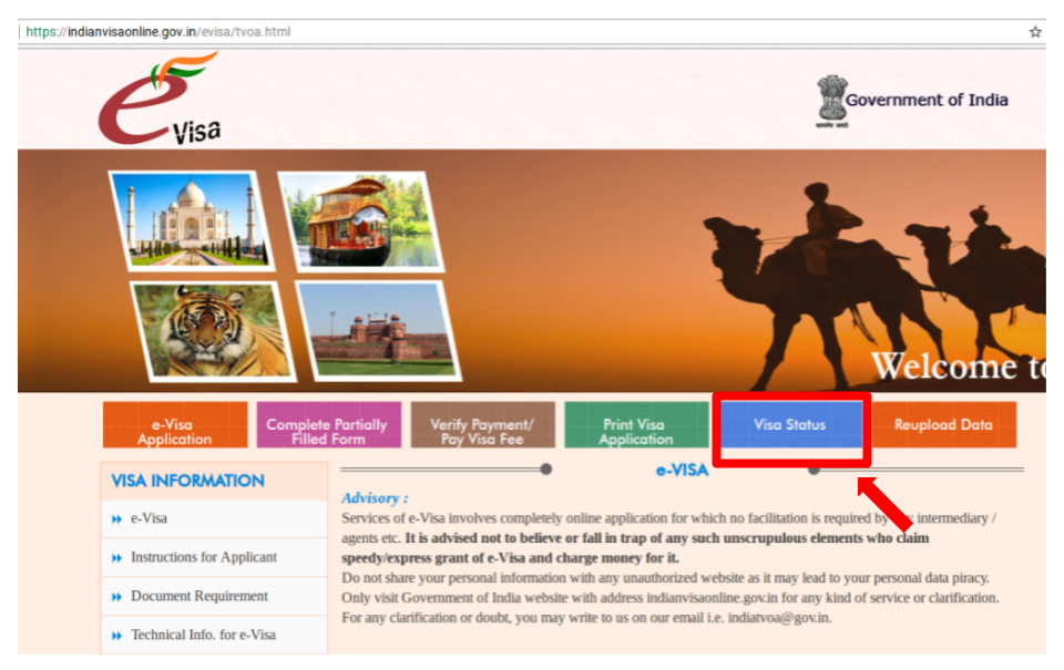 check passport application status india