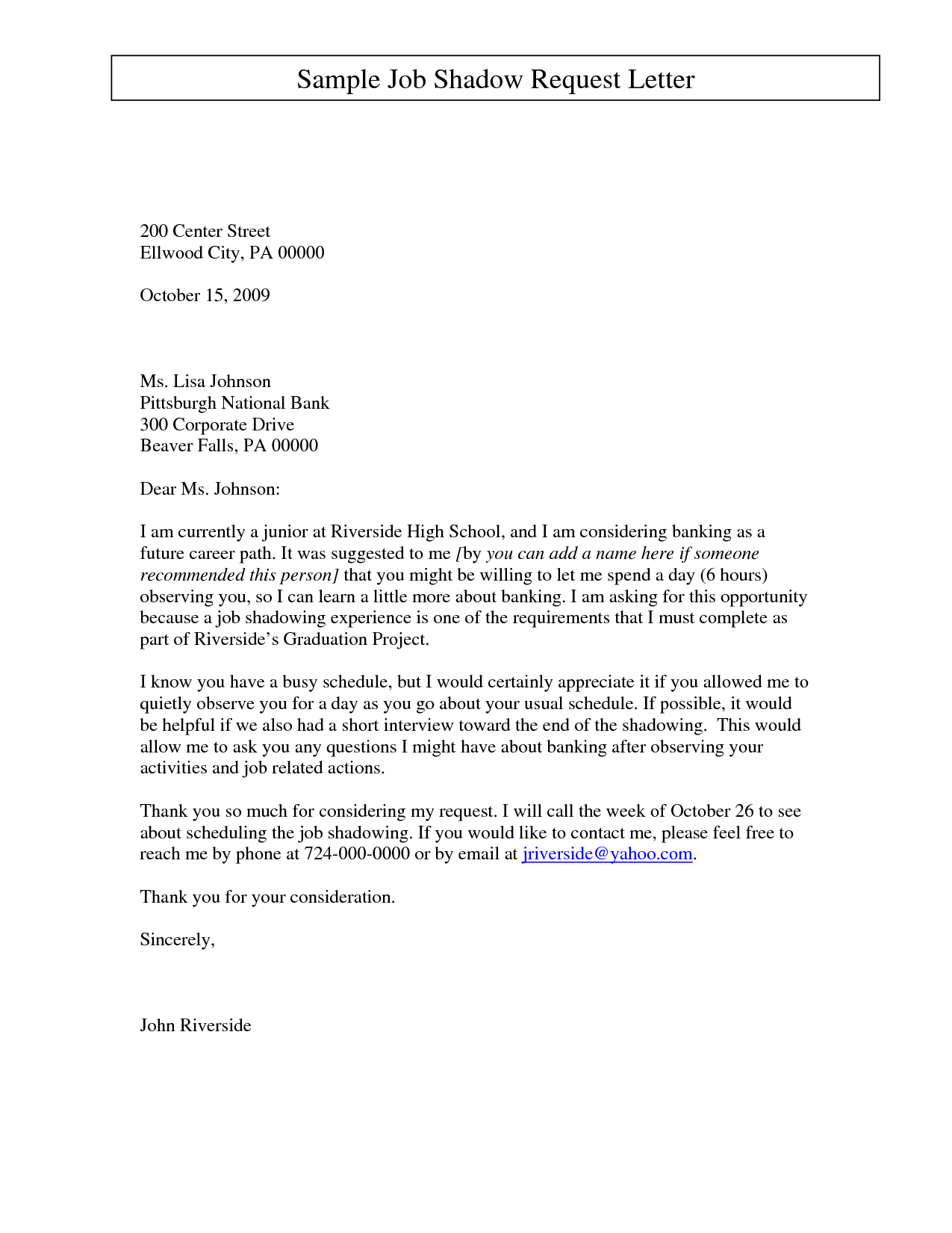 email cover letter template for job application