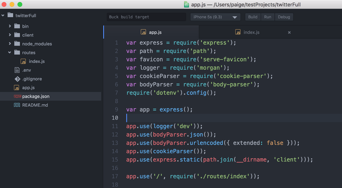 express in action writing building and testing node js applications
