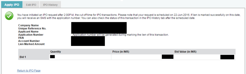 online ipo application form fill up