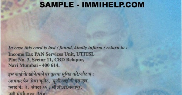 pan card application form free download