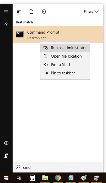 run application as administrator from command line
