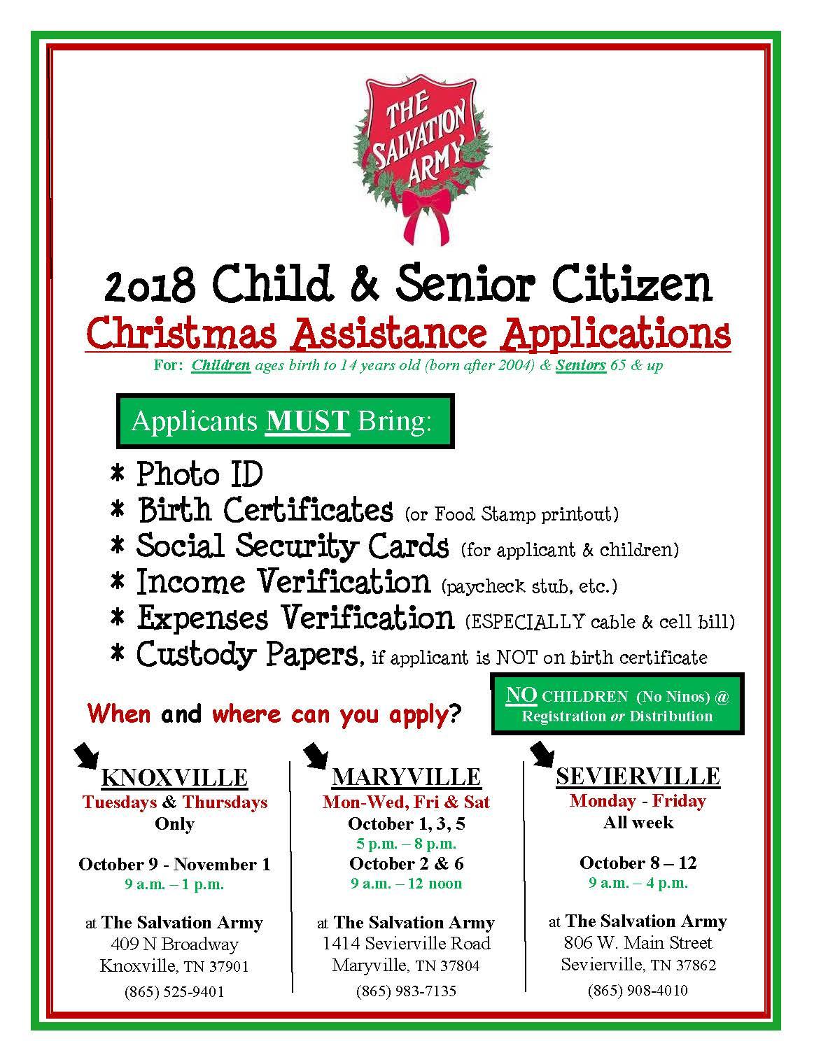 salvation army angel tree program application 2017