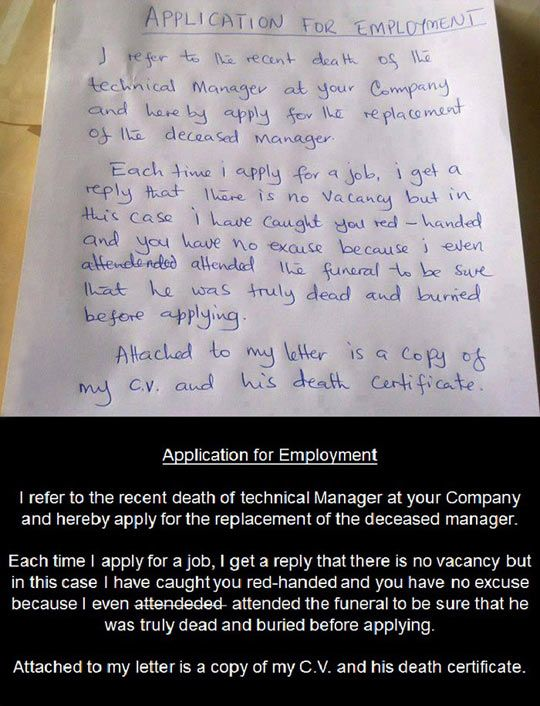 what goes on a cover letter for a job application